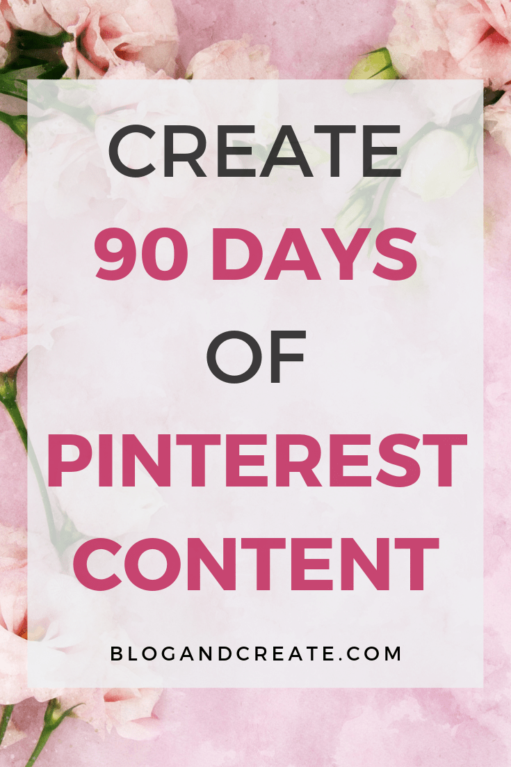 Save time on promoting your blog content by scheduling ahead, with or without a Pinterest scheduling service. Plan and create enough content for your Pinterest marketing strategy to last 90 days. #pinterest #pinterestmarketing #blogging #bloggingtips #contentmarketing #blogging #blogger #blog