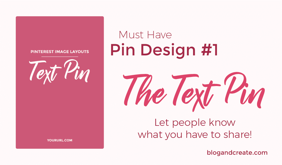 Pinterest Graphic Design #1: The Text Pin