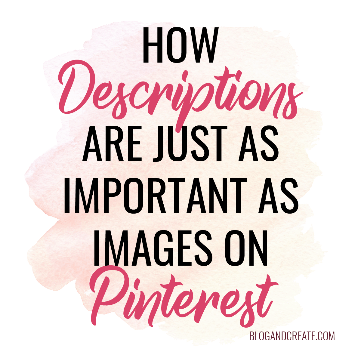 How Descriptions are as Equally Important as Images on Pinterest